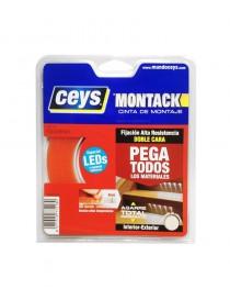 Cinta Montack Ceys doble cara para Leds 10Mx8MM