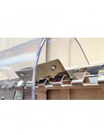 Set 2 placas de acero inox para lamas de PVC flexible