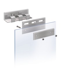 Set 2 placas de acero inox para lamas de PVC flexible