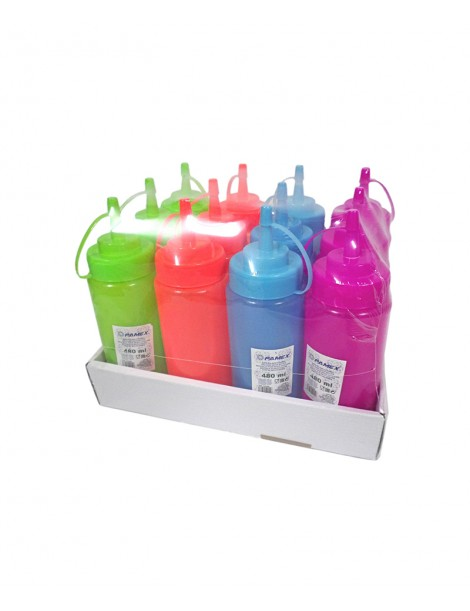 Botella de colores para salsas