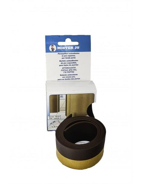 Burlete adhesivo de PVC de color marrón