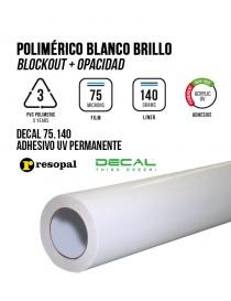 Vinilo de impresión polimérico con adhesivo UV Blockout