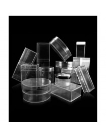 Cajitas transparentes de poliestireno