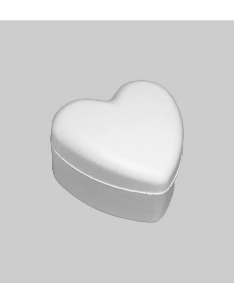 Caja de poliexpán con forma de corazón
