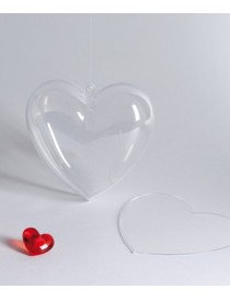 Corazón transparente par rellenar