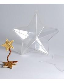 Estrella transparente para rellenar