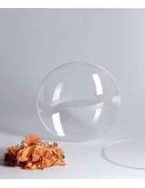 2 medias bolas transparentes para rellenar
