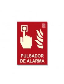 """Señal """"Pulsador de alarma"""" Clase B"""