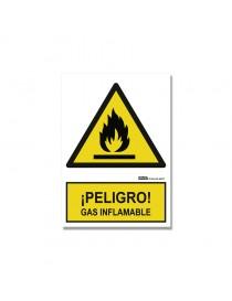 """Señal """"¡Peligro! Gas inflamable"""""""