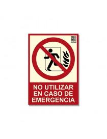 """Señal """"No utilizar en caso de emergencia"""" Clase B"""