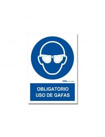 "Señal ""Obligatorio Uso de Gafas"""