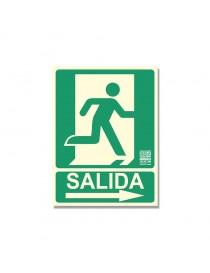 """Señal """"Salida Persona Puerta Flecha"""""""