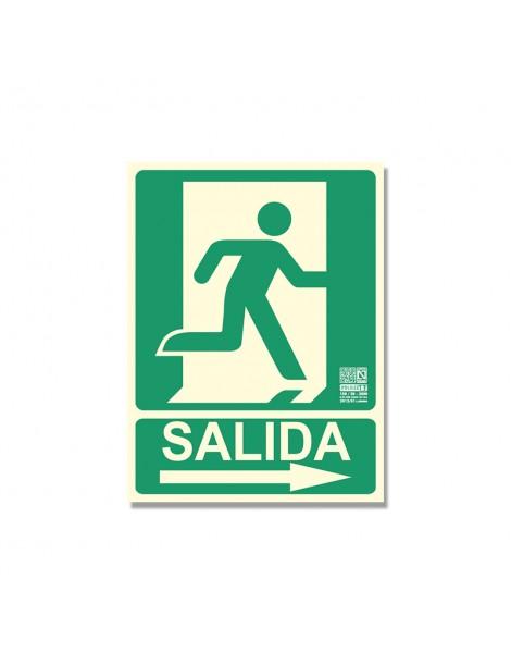 "Señal ""Salida Persona Puerta Flecha"" - Derecha"