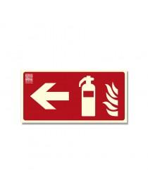 Señal extintor con flecha Clase B