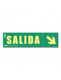 """Señal """"Salida"""" + flecha inclinada Clase A"""