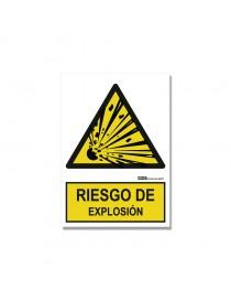 """Señal """"Riesgo de explosión"""""""