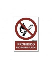 """Señal """"Prohibido encender fuego"""""""