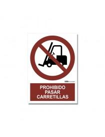 "Señal ""Prohibido pasar con carretillas"""