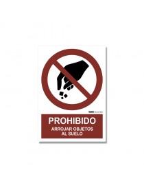 """Señal """"Prohibido arrojar objetos al suelo"""""""