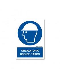 """Señal """"Obligatorio uso de casco"""""""