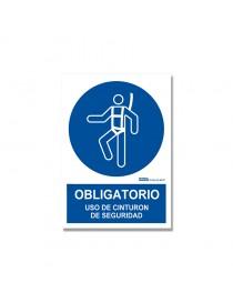 """Señal """"Obligatorio uso de cinturón de seguridad"""""""