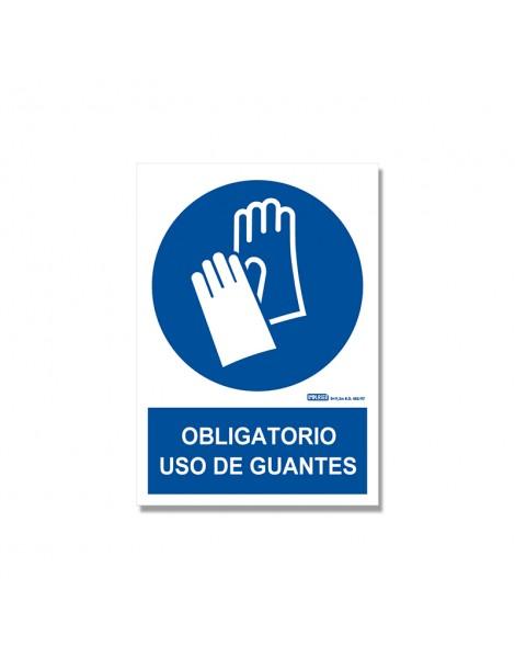 """Señal """"Obligatorio uso de guantes"""""""
