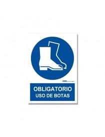 "Señal ""Obligatorio uso de botas"""