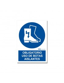 "Señal ""Obligatorio uso de botas aislantes"""