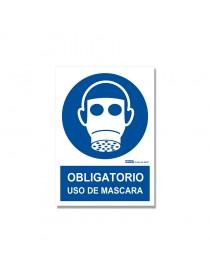 "Señal ""Obligatorio uso de mascara"""