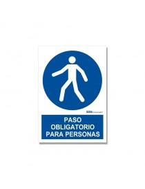 """Señal """"Paso obligatorio para personas"""""""