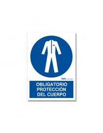 """Señal """"Obligatorio protección del cuerpo"""""""