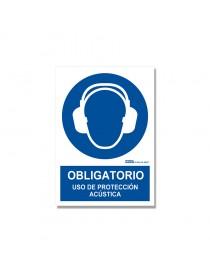 """Señal """"Obligatorio uso de protección acústica"""""""