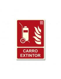 """Señal """"Carro extintor"""" Clase B"""