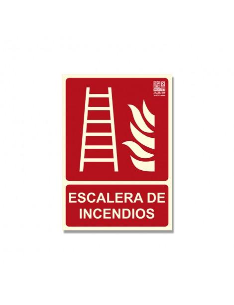 """Señal """"Escalera de incendios"""" Clase B"""