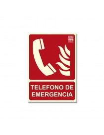 "Señal ""Teléfono de emergenia"" Clase B"