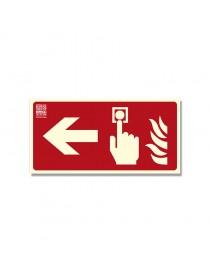 Señal pulsador con flecha Clase B