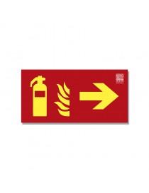 Señal Extintor + flecha Clase A - Derecha