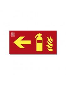 Señal Extintor + flecha Clase A