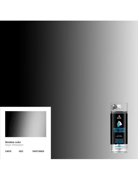 Spray de vinilo líquido Montana Negro Metalizado