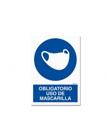 "Señal ""Obligatorio uso de mascarilla"""