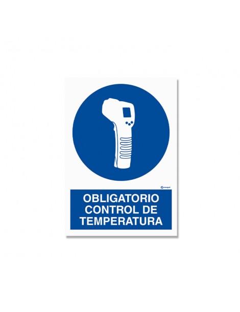"""Señal """"Obligatorio control de temperatura"""""""