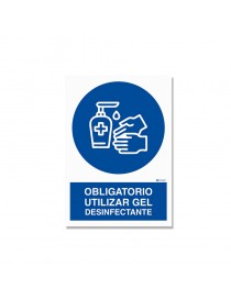 "Señal ""Obligatorio utilizar gel desinfectante"""