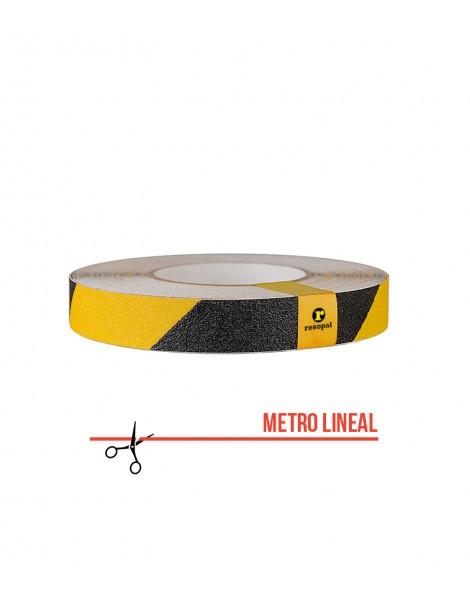 Cinta antideslizante adhesiva amarillo_negro_metraje25_CAD75