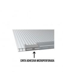 Cinta adhesiva microperforada de aluminio