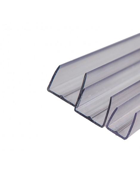 """Perfil """"U"""" de policarbonato transparente"""
