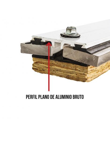Perfil plano universal de aluminio anodizado