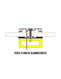 Perfil plano universal de aluminio bruto