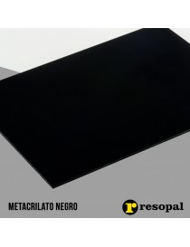 Planchas de metacrilato negro