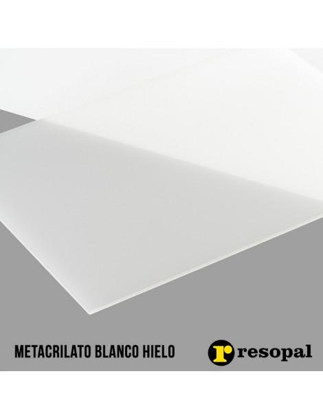 Planchas de metacrilato blanco hielo