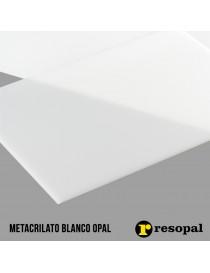 Planchas de metacrilato blanco opal